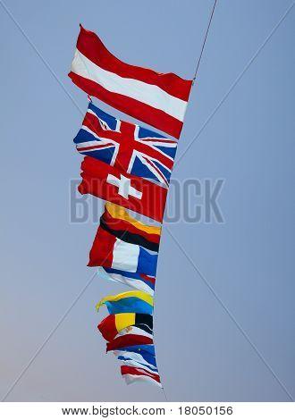 fags of various European countries