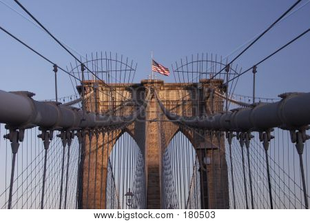 Brooklyn Bridge. Fragment.