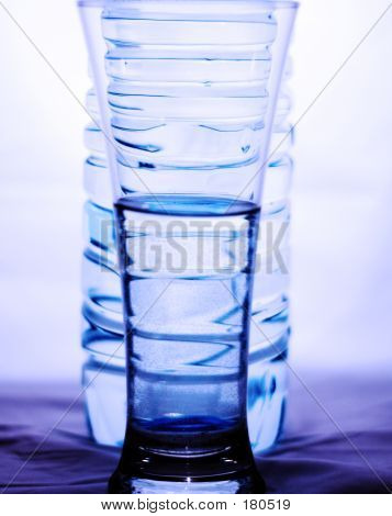 Glass And Bottle Of Water
