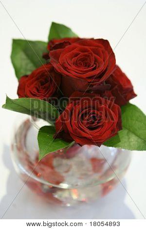 Romantic red roses centerpiece arrangement