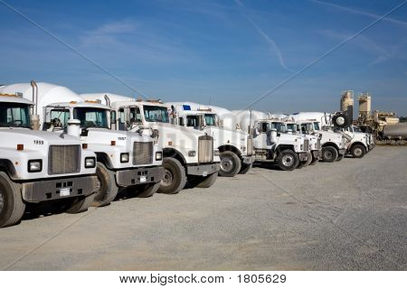 Transit Mix Concrete Trucks