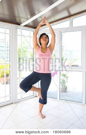 Woman doing exercise to maintain a healthy lifestyle