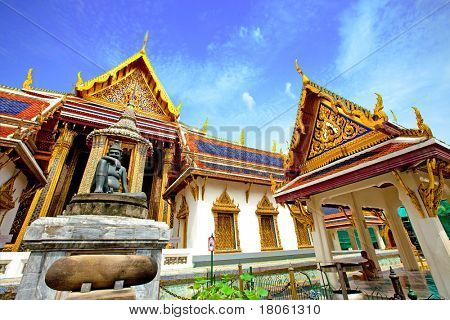 The Grand Palace in Bangkok, Thailand. Used to be the official home to the Kings of Thailand, now used mainly for ceremonial events.