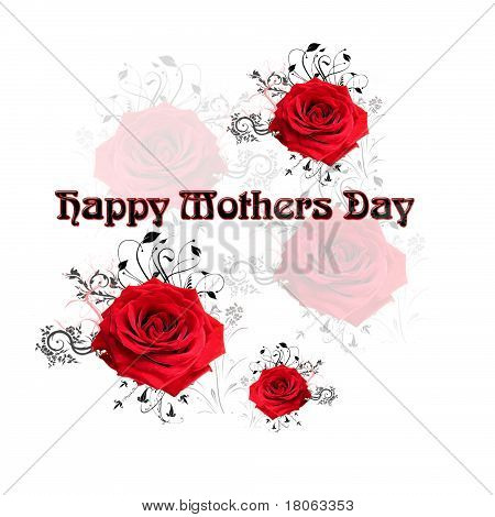 Happy Mothers Day w/ Roses