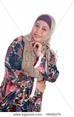 Beautiful mature Muslim woman in scarf