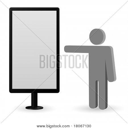 la cartelera con el icono de la persona