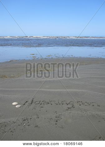 Washington beach - tourism - vertical