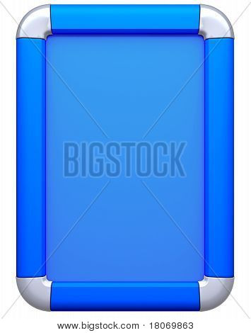 Blue Billboard Or Citylight Isolated