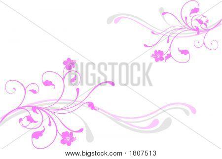 Pink Floral Design Element