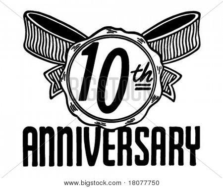 10th Anniversary - Retro Ad Art Banner