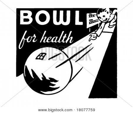 Schüssel für Gesundheit 4 - Retro Art-Werbebanner