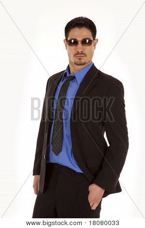 Man Business Blue Glasses Looking