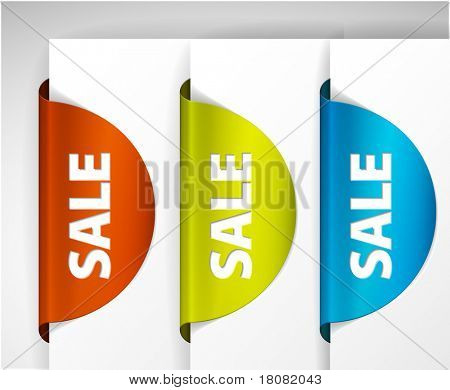 Round Sale Label / Sticker on the edge of the (web) page