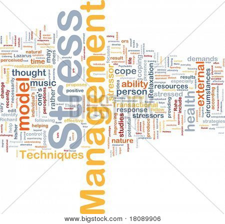 Background concept word cloud illustration of stress management
