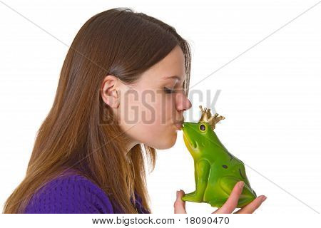Beautiful Woman With Frog Prince