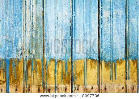 Rotten Boards With Old Paint Background