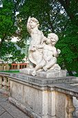 Statue Of Putti Angels In Burggarten In Vienna poster