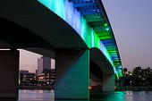 picture of long beach  - View of Long Beach skyline in late afternoon from underneath Queensway bridge - JPG