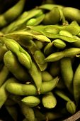 picture of soya-bean  - Close up of Japanese Adame beans  - JPG