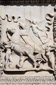 Basrelief with angels and horse