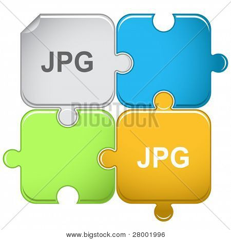 Jpg. Raster puzzle. Vector version is in portfolio.