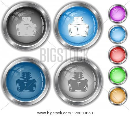 Inkstand. Raster internet buttons. Vector version is in portfolio.