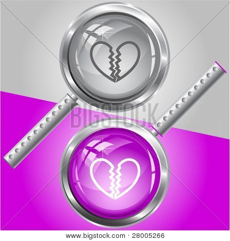 Unrequited love. Raster magnifying glass. Vector version is in my portfolio.