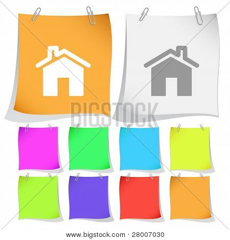 Home. Raster note papers. Vector version is in portfolio.