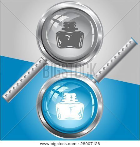 Inkstand. Raster magnifying glass. Vector version is in my portfolio.