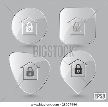 Bank. Glass buttons. Vector illustration.