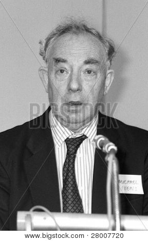 LONDON-JULY 1: Michael Ivens, Director of British business pressure group Aims Of Industry, speaks at a press conference on July 1, 1991 in London. He died in 2005.