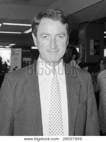 BRIGHTON, ENGLAND-SEPTEMBER 14: Ian Wrigglesworth, President of the Liberal Democratic Party and former M.P. for Stockton South, visits the party conference on September 14, 1989 in Brighton, Sussex.