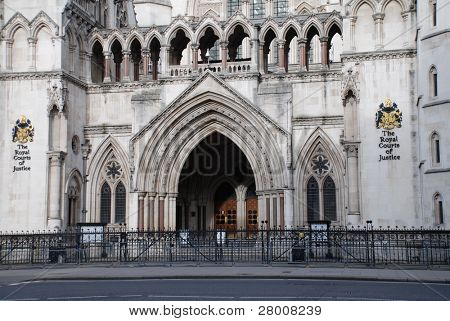 The Royal Courts of Justice in the Strand, London, England.