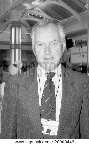 BLACKPOOL, ENGLAND - OCTOBER 10: Richard Alexander Conservative party Member of Parliament for Newark, visits the party conference on October 10, 1989 in Blackpool, Lancashire.
