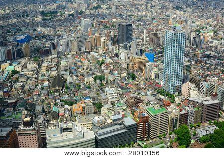 Urban sprawl in Shinjuku, Tokyo, Japan