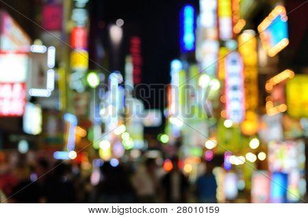 Abstract view of kabuki-cho in Shibuya, Tokyo, Japan.