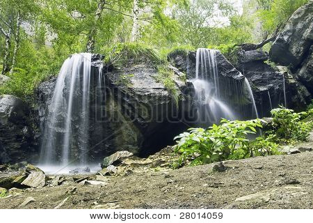 waterfall in the Altay mountain