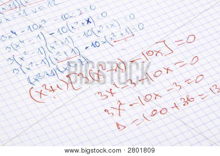 Hand Written Maths