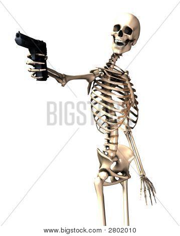 Skeleton And Gun