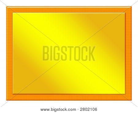 Wood Plaque With Bronze Inset