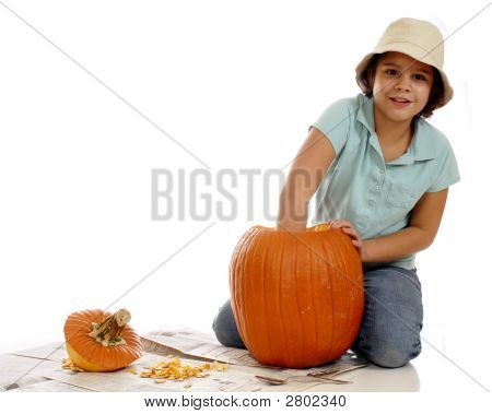 Cleaning The Pumpkin