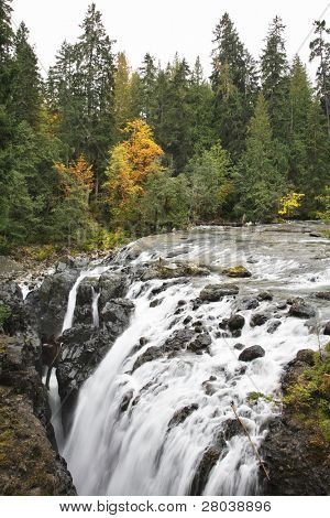 Falls in Canada, falling in a deep crevice