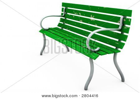 Bench On White