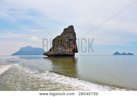 The well-known island-rock