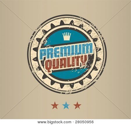 Premium Quality vintage badge