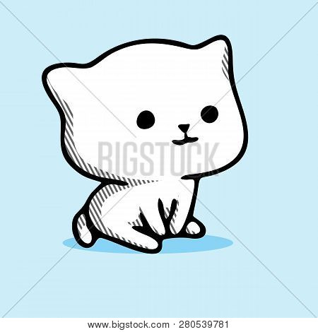 poster of Sitting Cat. Cat Vector. Sitting Cat Meme. Sitting Cat Drawing. Sitting Cat Cartoon. Sitting Cat Toy