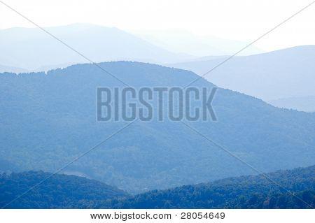 Colinas de la montaña de Blue Ridge
