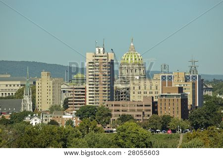 Harrisburg Skyline over the Susquehanna River