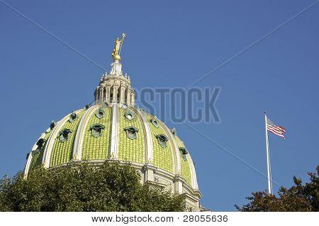 Pennsylvania State Capital Building rotunda in Harrisburg