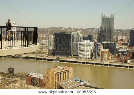 view of Pittsburgh skyline from Monongahela Incline